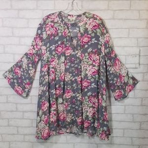 Umgee floral print tunic/dress size small